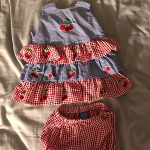 Girls dress with bloomers 3-6mo